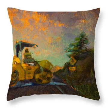 Road Work Ahead Throw Pillow by Athena  Mantle