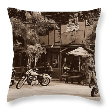 Roadhouse Throw Pillow by Laura Fasulo