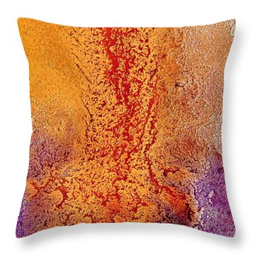 Roads To Success - Fluid Liquid Abstract Macro Photography By Kredart Throw Pillow