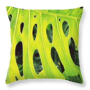 Throw Pillow featuring the photograph Roadside Foliage by Mary Bedy