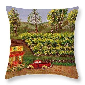 Roadside Fruits And Veggies Throw Pillow