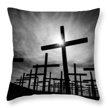 Roadside Memorial Throw Pillow