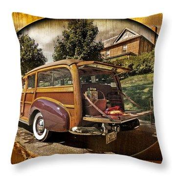 Roadside Picnic Throw Pillow