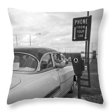 Roadside Public Telephone Throw Pillow