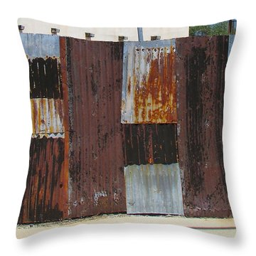 Throw Pillow featuring the photograph Roadside Quilt by Brenda Pressnall
