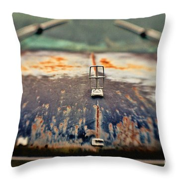 Roadside Relic Throw Pillow by Scott Pellegrin
