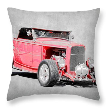 Roadster Red Throw Pillow