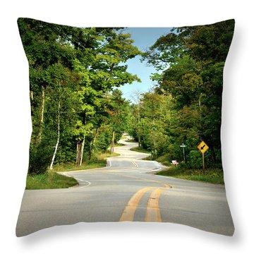 Roadway Slalom Throw Pillow