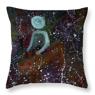 Throw Pillow featuring the painting Roam by Min Zou