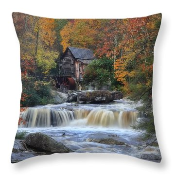 Roaring Past The Mill Throw Pillow