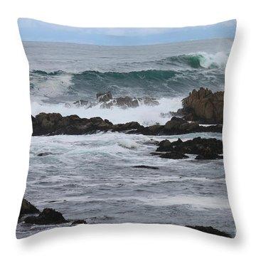 Roaring Sea Throw Pillow