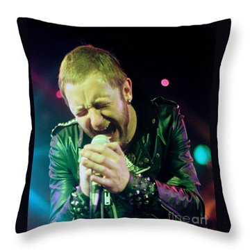 Rob Halford Of Judas Priest Without Flames Effect- Warfield Theater During British Steel-unreleased  Throw Pillow