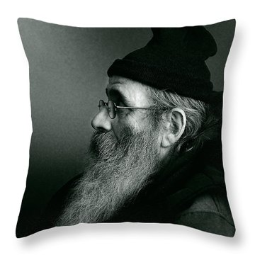 Rob Profile Redux Duotone Throw Pillow