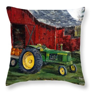 Rob Smith's Tractor Throw Pillow