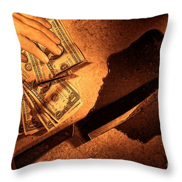 Robbery Throw Pillow by Olivier Le Queinec