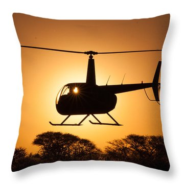 Robbie Sun Throw Pillow