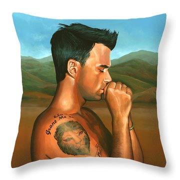 Robbie Williams 2 Throw Pillow