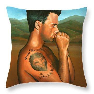 Robbie Williams 2 Throw Pillow by Paul Meijering