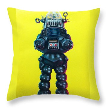 Robby The Robot Throw Pillow