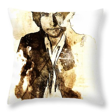 Robert Allen Zimmerman Throw Pillow
