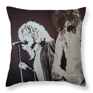 Robert And Jimmy Throw Pillow by Stuart Engel