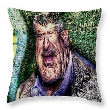 Robert De Niro Caricature Throw Pillow