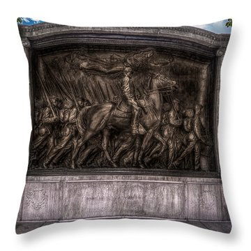 Robert Gould Shaw Memorial On Boston Common Throw Pillow by Tom Gort