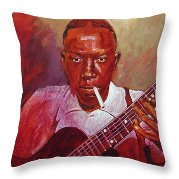 Robert Johnson Photo Booth Portrait Throw Pillow