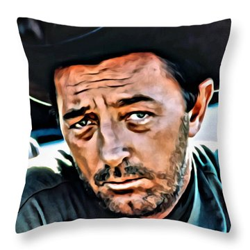 Robert Mitchum Throw Pillow