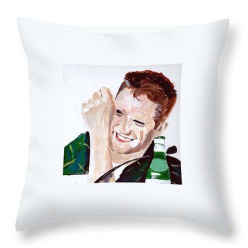 Robert Pattinson 190 Throw Pillow