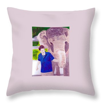 Robert Pattinson With Tai Throw Pillow
