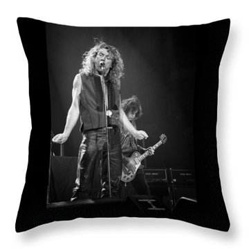 Robert Plant And Jimmy Page Throw Pillow by Timothy Bischoff