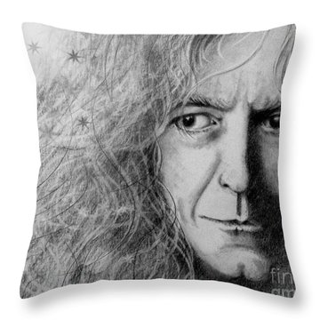 Robert Plant Throw Pillow by Patrice Torrillo
