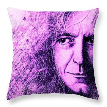 Robert Plant Purple Throw Pillow by Patrice Torrillo