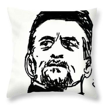 De Niro Sketch Throw Pillow