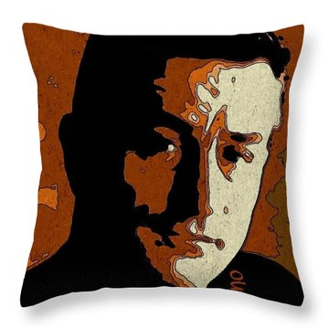 Robert De Niro Portrait Throw Pillow