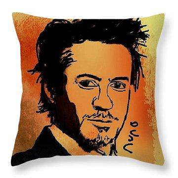 Robert Downey Jr Throw Pillow