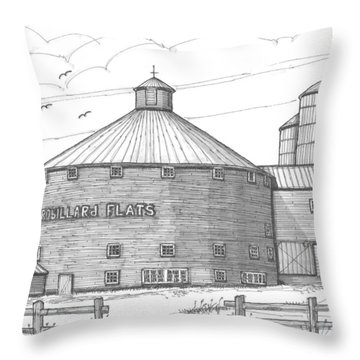 Robillard Flats Round Barn Throw Pillow