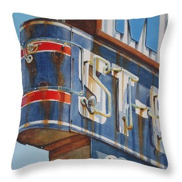 Robin And Motel Throw Pillow