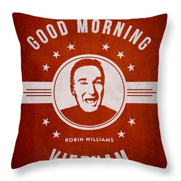 Robin Williams - Red Throw Pillow