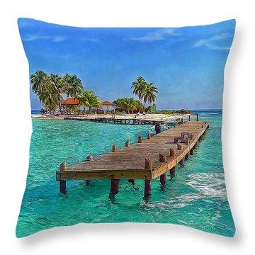 Robinson Island Throw Pillow