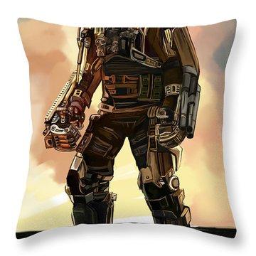 Robot Men Throw Pillow