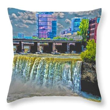 Rochester High Falls Throw Pillow