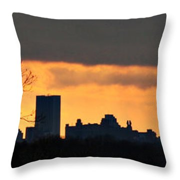 Rochester Skyline Throw Pillow by Richard Engelbrecht