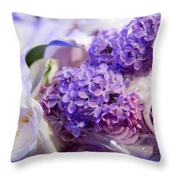Throw Pillow featuring the photograph Rochester Wedding Bouquet by Courtney Webster