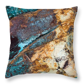 Throw Pillow featuring the photograph Rock Abstract by Chris Scroggins