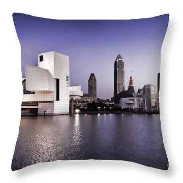 Throw Pillow featuring the photograph Rock And Roll Hall Of Fame - Cleveland Ohio - 2 by Mark Madere