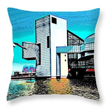 Throw Pillow featuring the photograph Rock And Roll Hall Of Fame - Cleveland Ohio - 4 by Mark Madere