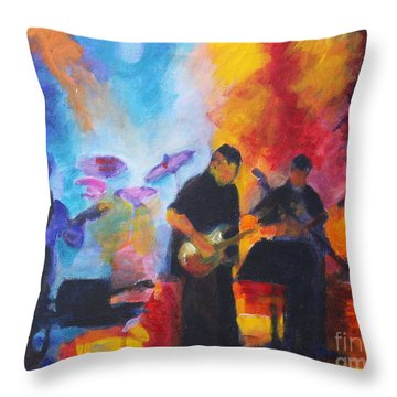 Rock And Roll Throw Pillow by Jan Bennicoff