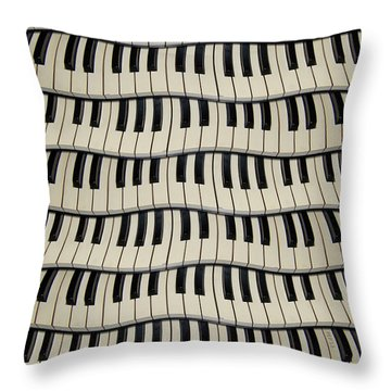 Rock And Roll Piano Keys Throw Pillow